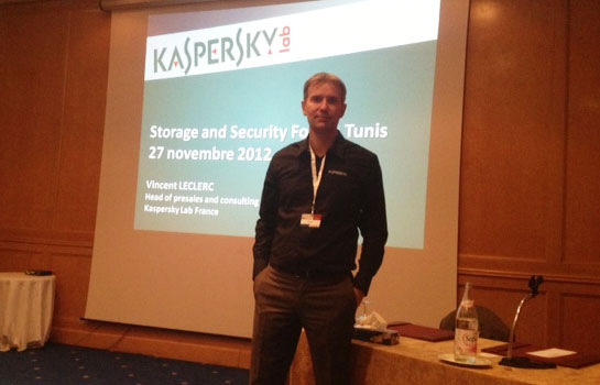 Venent Leclerc de Kaspersky au Storage & Security Forum à Tunis