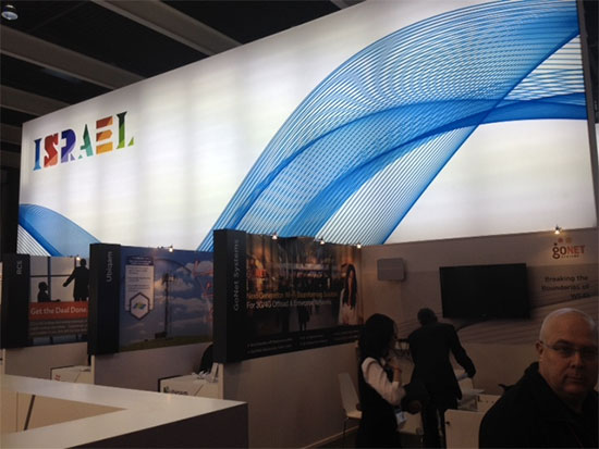 Un des dizaines de stand d'Israel au Mobile World Congress 2014