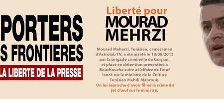 Tunisie : Reporters sans frontières demande la libération immédiate de Mourad Meherzi