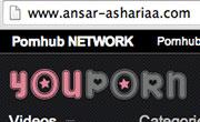 Le site d'Ansar Alchariaa piraté et affiche du contenu porno