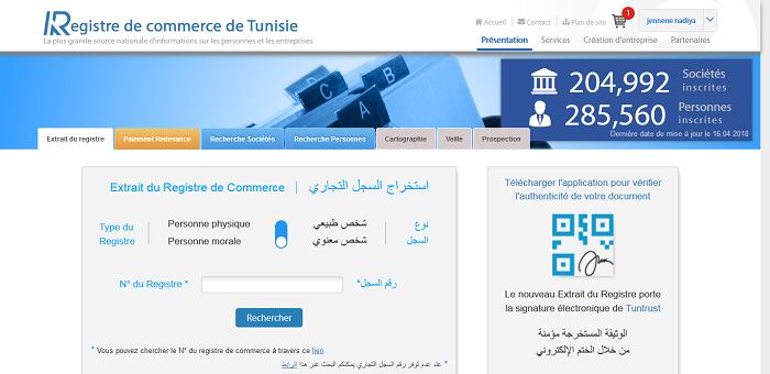 Registre De Commerce Thd Tunisie Haut Debit